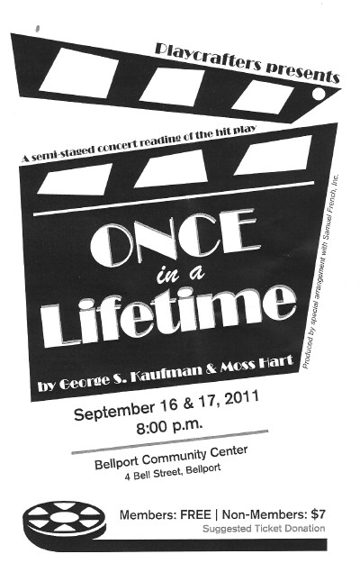 Once In A Lifetime (Semi Staged Concert Reading)-2011