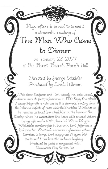 The Man Who Came To Dinner (Dramatic Reading)-2007
